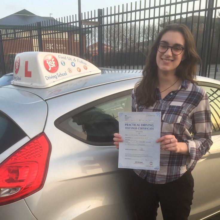 """Thank you so much to JSF Driving School for helping me get through my test with a pass & 5 minors. They made the learning relaxed and easy. Thank you."" Well done to Pippa Hendry who earned a well deserved pass at Gloucester Test Centre on 20th December, 2016 just in time for Christmas. Great result!"