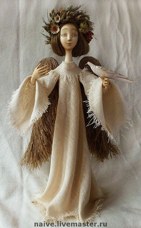 """Купить кукла """"Большой ангел"""" - оригинальный подарок, дерево, ручная работа, натуральные материалы"""
