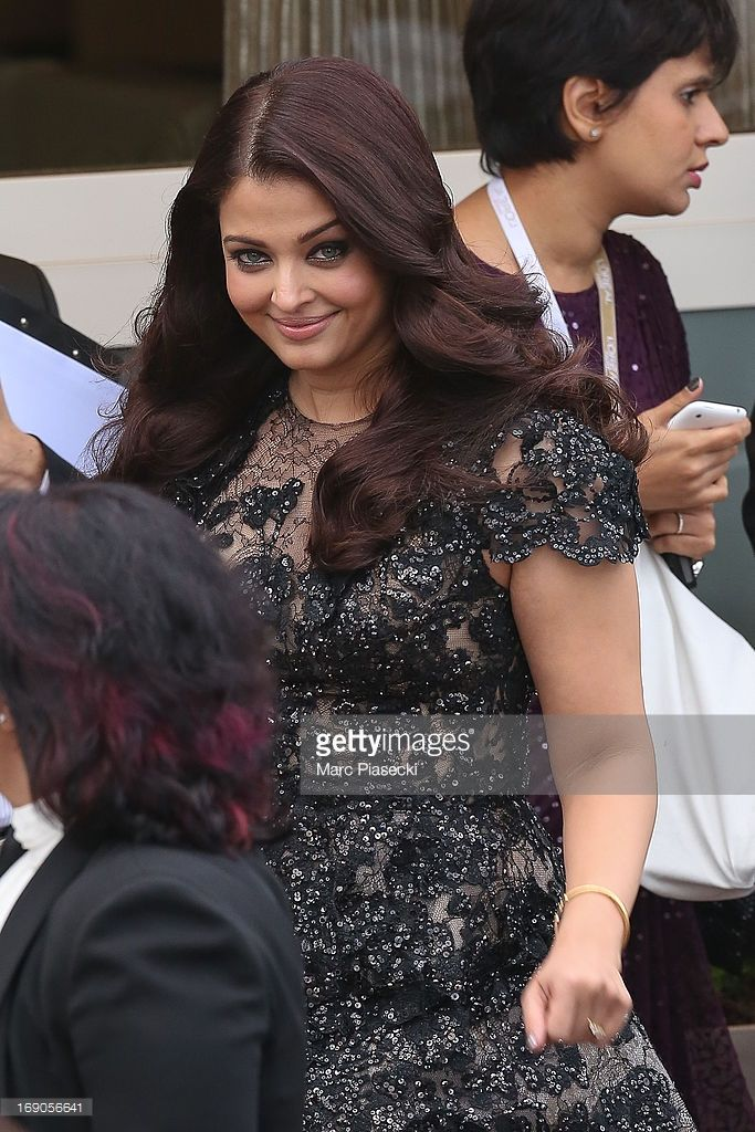 Actress Aishwarya Rai is seen leaving the 'Grand Hyatt Hotel Martinez Cannes' during the 66th Annual Cannes Film Festival on May 19, 2013 in Cannes, France.