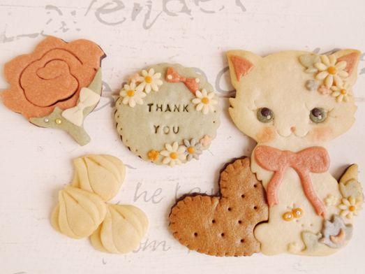 乙女な子猫 - 絵本なお菓子sai* 絵本なクッキー世界一可愛いクッキープチギフト結婚式通販オーダーメイド名前入れブライダルウェディング