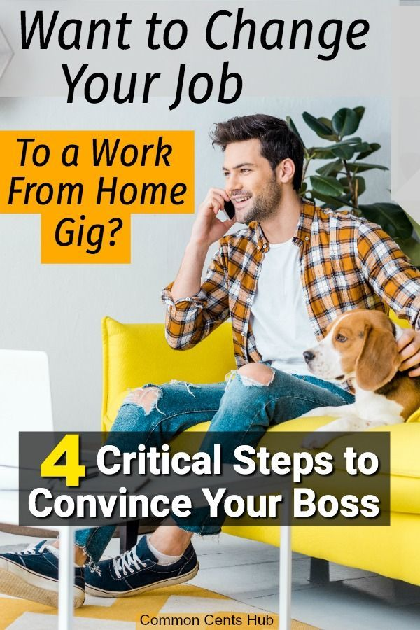 The 4 Key Steps to Convince Your Boss to Let You Work From Home.