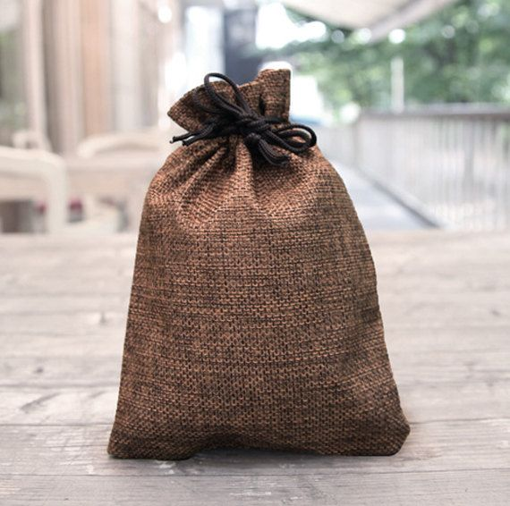 5 X Gift bags / Brown bags / Favor bags / Party bags / Jute pockets / Soap bags / Candle pocket / Fabric pockets / Candle bags / Jute bags /
