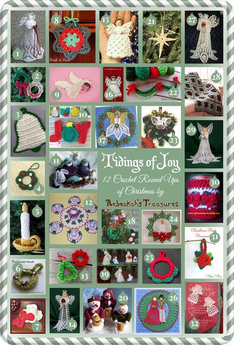 Tidings of Joy - 12 Crochet Round Ups of Christmas via @beckastreasures