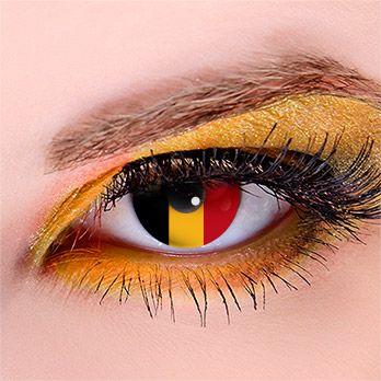 Flagge Belgien - Kontaktlinsen für Fußball-Fans #WorldCup #football #contacts #fifa #belgium