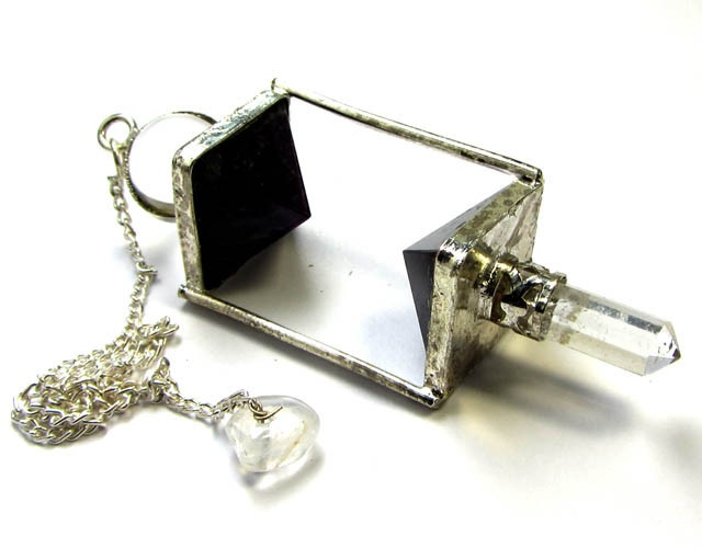 98 cts pendulum cage amethyst gemstone