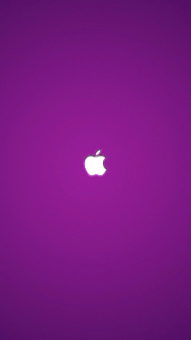 purple apple logo 4k - photo #29