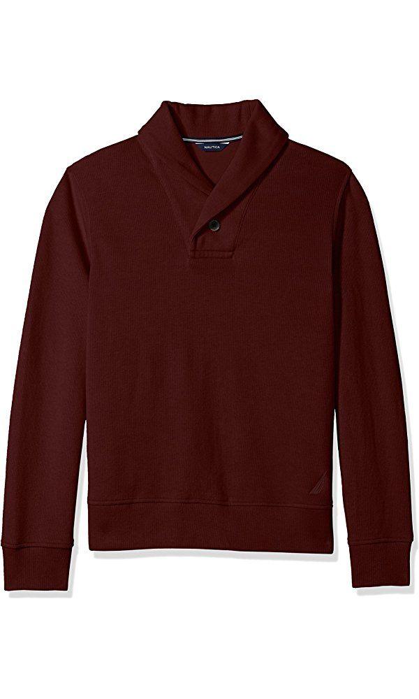 Nautica Men's Shawl-Collar Sweater, Shipwreck Burgundy, XXL Best Price