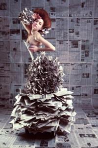 Eco Fashion Show Fashion shoot in a eco friendly dress promoting environmental friendly fashion.