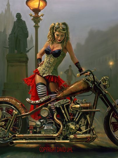 David Uhl's motorcycle artwork is amazing! Would love to own a piece of his.