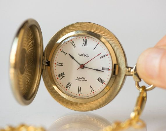 Vintage pocket watch small  quartz pocket watch unisex  by 4Rooms