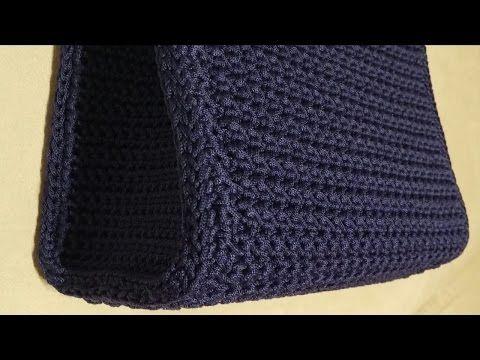 Tutorial - Come cucire i laterali ad una borsa uncinetto - Crochet - YouTube
