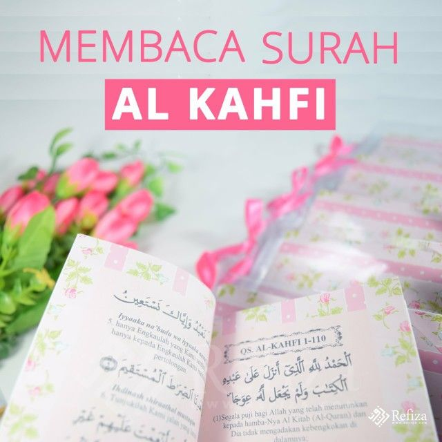 Salah satu amal ibadah khusus yang diistimewakan pelakasanaannya pada hari Jum'at adalah membaca surah Al-Kahfi.   More >> http://www.refiza.com/membaca-surat-al-kahfi/