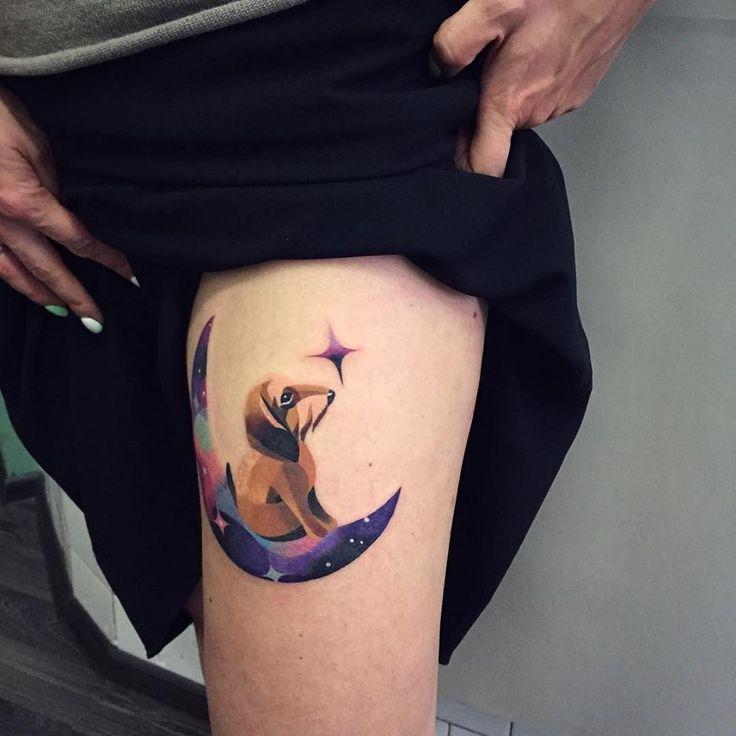 dachshund tattoo - Sasha Unisex