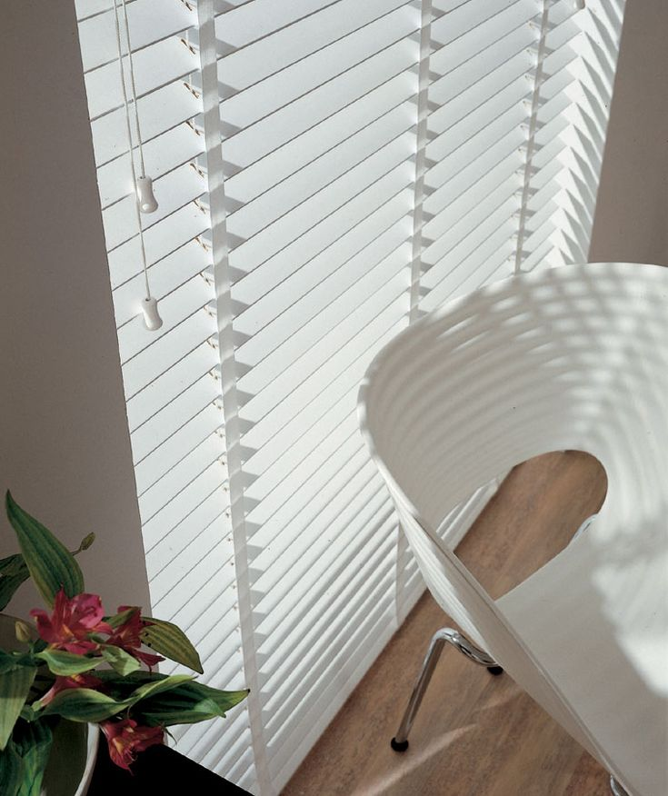 Bright White Wooden Venetian Blinds With Tapes Https