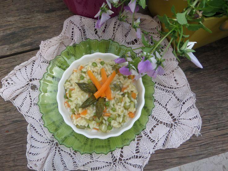Risotto alle verdure di primavera #rice #vegetables #spring