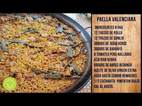 Receta Paella Valenciana Auténtica Youtube Paella Valenciana Paella De Mariscos Paella