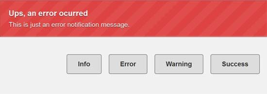 Notification Messages with CSS3  jQuery