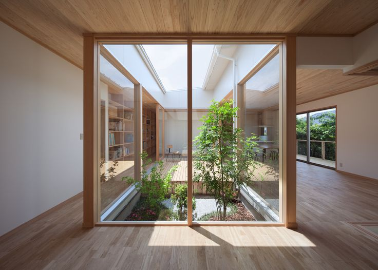 Living with Sun Light / MOVEDESIGN. Love the interior garden.....