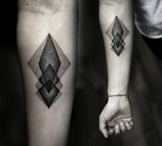 geometric tattoo - great stippling!