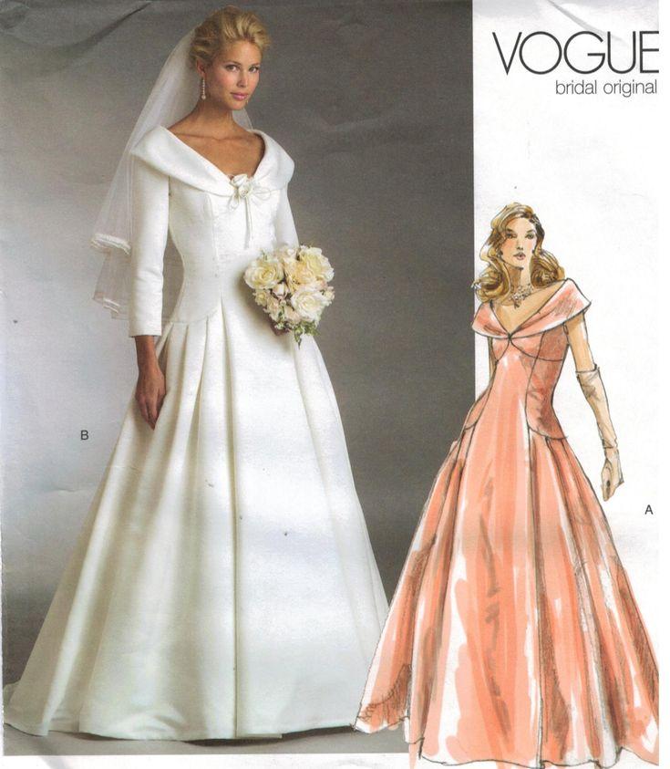 VOGUE BRIDAL ORIGINAL V2788 MISSES/' WEDDING GOWN DRESS SEWING PATTERN SIZE 6~22
