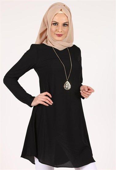 Beyhan Kolyeli Tunik-Siyah-1001