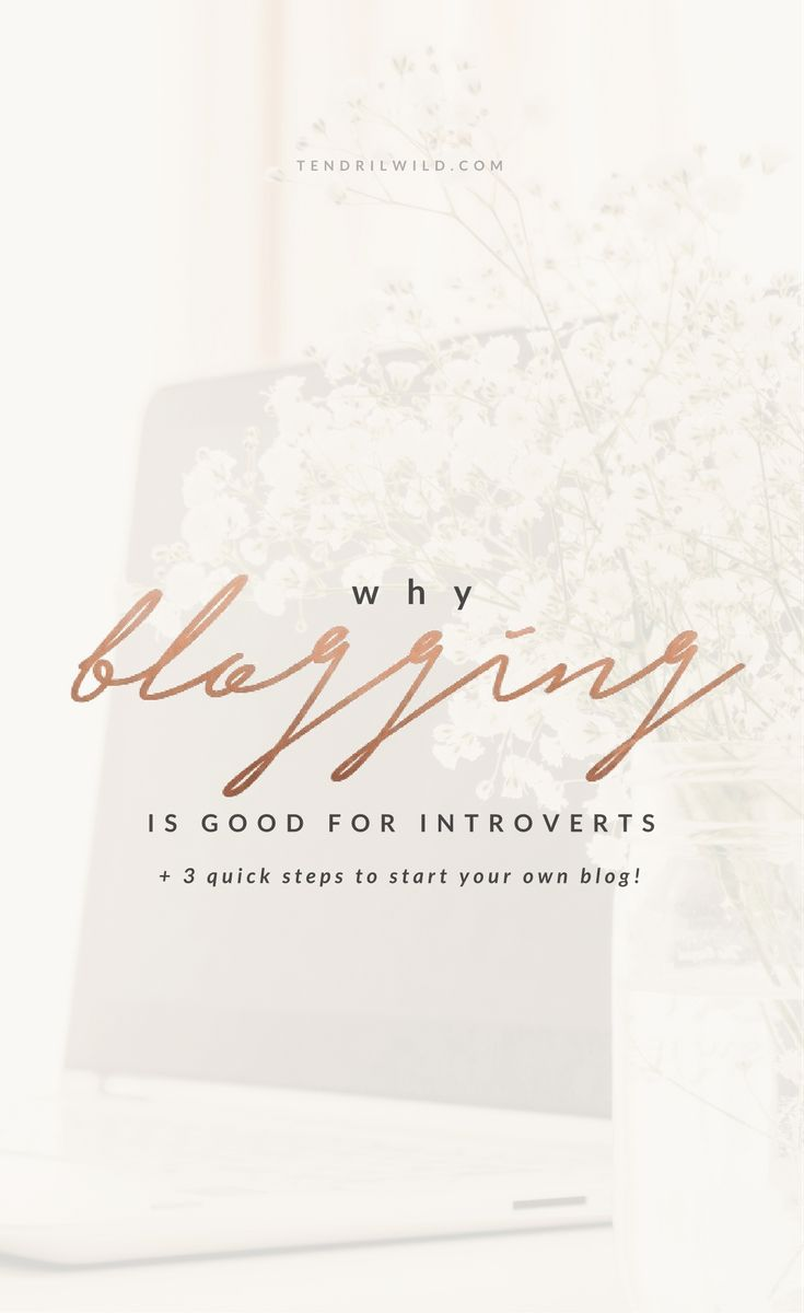 Why Blogging Is The Perfect Hobby For Introverts