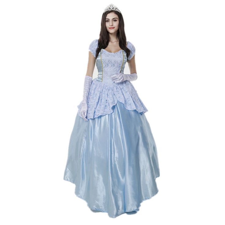 Movie Sissi Princess dress Cosplay Costume Lace Halter maxi Elegant Pattern Dress for Women Carnival/Show/Party Blue dress #Affiliate