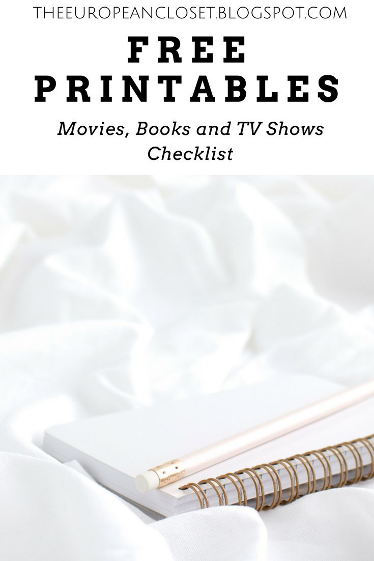 I am obsessed with lists: I'm that kind of girl that uses every single excuse she can find to write a list. Here are 3 printables for movies, tv shows and books!