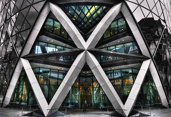 30 St Mary Axe   The Gherkin   Swiss Re Building.  London, England.
