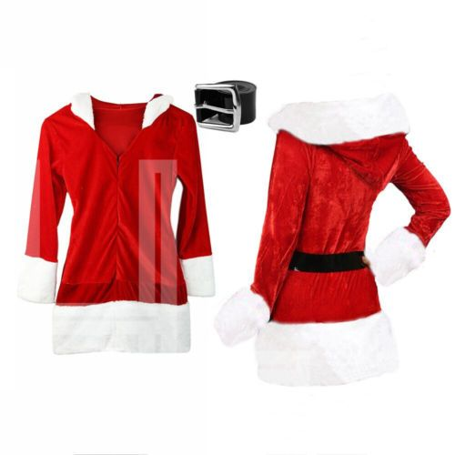 Christmas womens outfit ladies mrs #santa claus xmas #fancy dress #costume,  View more on the LINK: 	http://www.zeppy.io/product/gb/2/201473683507/