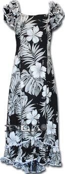 Luau Hawaiian Muumuu (Black)brSingle Hibiscusbr100% Cottonbr