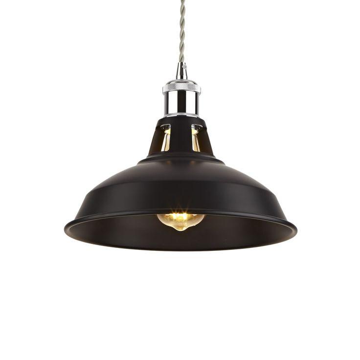 Suspension métal noir 28 x 22cm Brera - Image 3