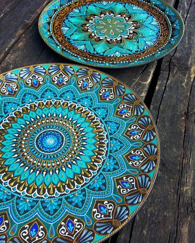 Декоративные тарелочки на заказ.  Диаметр 26 см