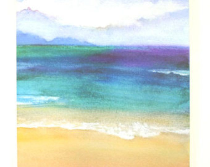 Abstract aquarel schilderen  kleurrijke zee  zee  strand