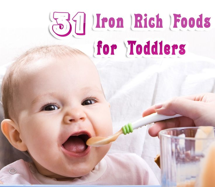 Iron Rich Baby First Foods