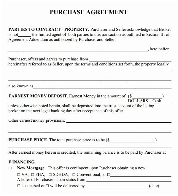 Land Purchase Agreement Form Pdf Best Of Purchase Agreement 15 Download Free Documents In Pdf Word Real Estate Contract Purchase Agreement Contract Template
