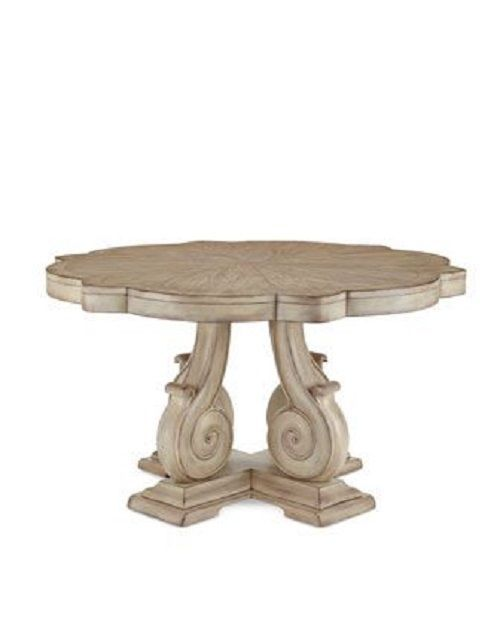 Carol round dining table neiman marcus horchow vintage for Distressed round dining table