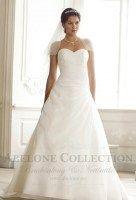 Enkel brudekjole med tubetopp 08-3257 Lily 2014, enkel brudekjole, enkle brudekjoler, brudekjoler med lite pynt