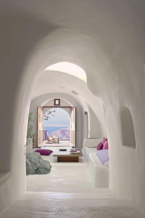 //The Perivolas on Santorini.