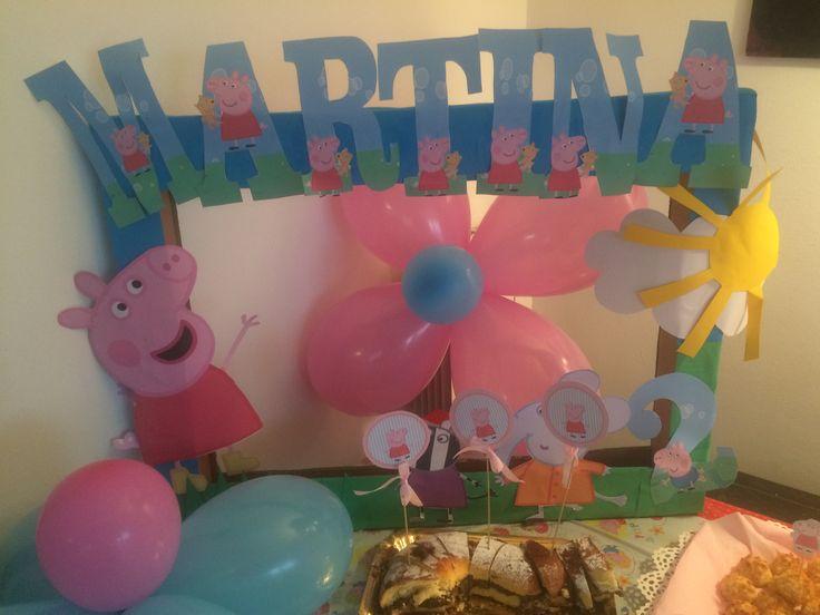 PeppaPig birthday decoration allestimento craft ideas by www.babyeventimilano.com