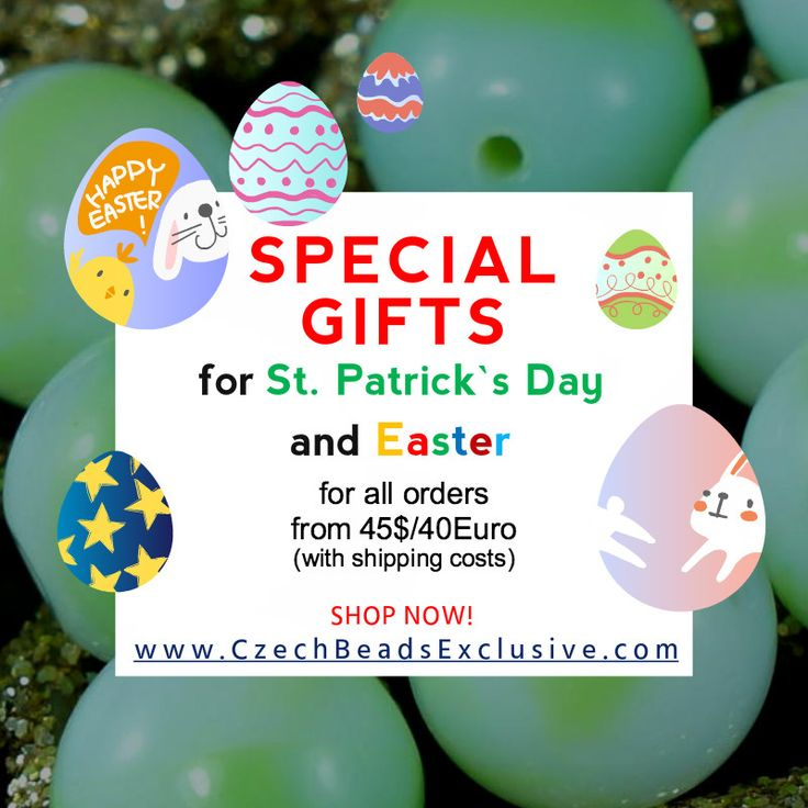 ✔ What's Hot Today: ʕ ᵔᴥᵔ ʔ SPECIAL GIFTS FOR St. Patrick`s Day and Easter  (•ᴥ• )  https://czechbeadsexclusive.com/%ca%95-%e1%b5%94%e1%b4%a5%e1%b5%94-%ca%94-special-gifts-for-st-patricks-day-and-easter-%e2%80%a2%e1%b4%a5%e2%80%a2/?utm_source=PN&utm_medium=czechbeads&utm_campaign=SNAP #CzechBeadsExclusive #czechbeads #glassbeads #bead #beaded #beading #beadedjewelry #handmade
