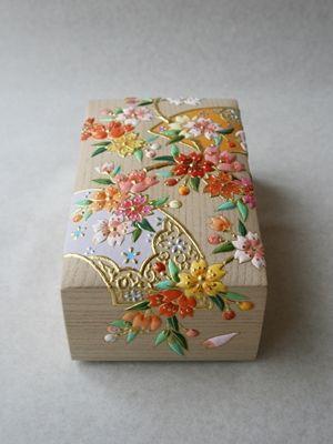高盛金彩絵 桜の絵飾筥
