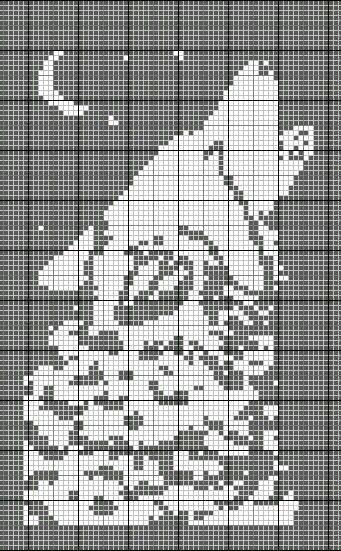 Detailed Howling Wolf cross stitch pattern