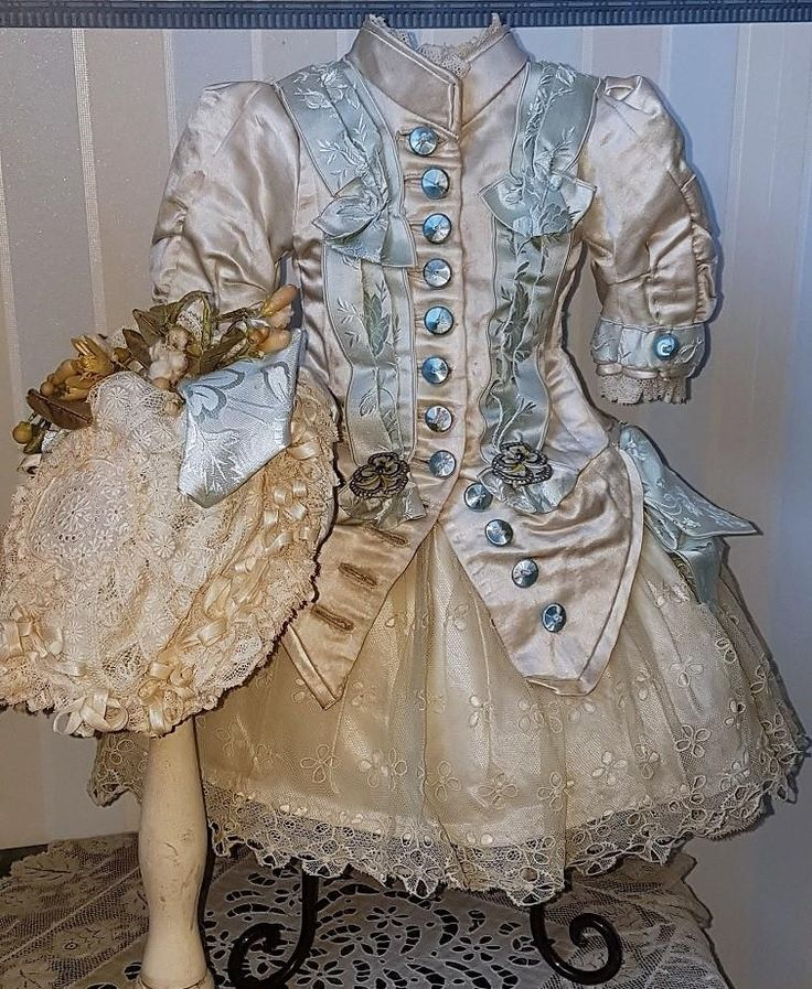 ~~~ French Silk Bebe Costume with Bonnet ~~~ from whendreamscometrue on Ruby Lane