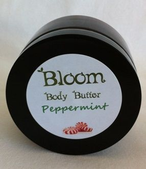 Bloom Peppermint Body Butter - The cooling effect of this butter is great for those hot, tired feet and legs.  Estheticians love this refreshing butter for clients feet while doing pedicures.