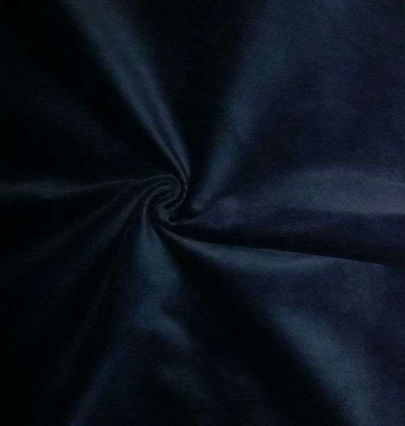 Luxurious Solid Blue 100% Cotton Velvet Velour by LushesCurtains
