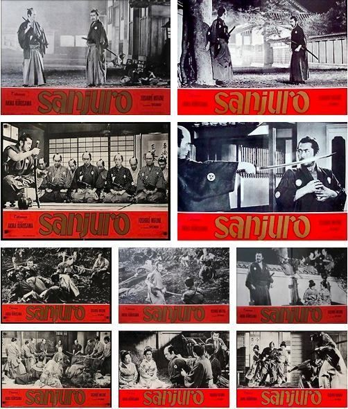 SANJURO Complete set of 10 Italian fotobusta AKIRA KUROSAWA TOSHIRO MIFUNE.  Whoa, so of these are super rad!