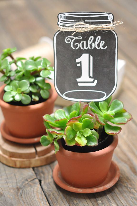 free printable table number