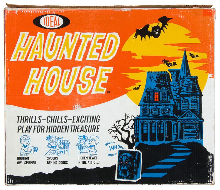 Vintage Halloween Game ~ Haunted House Board Game by Ideal: Haunted Houses, Hauntedhouse, Scifi Games, Halloween Games Toysand, Vintage Games, Board Games, Ideal Haunted House 72Dpi Jpg