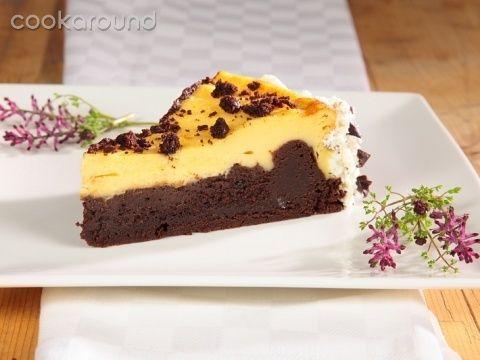 Cheesecake con base di brownie